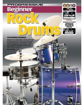 Progressive Beginner Rock Drums - Teach Yourself How to Play Drums