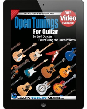 Open Tuning Guitar Lessons - Teach Yourself How to Play Guitar (Free Video Available)