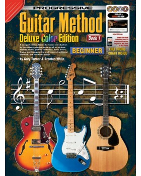 Progressive Guitar Method - Book 1 - Deluxe Color Edition - Teach Yourself How to Play Guitar