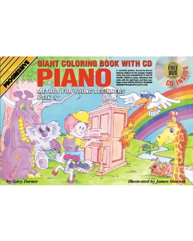 Progressive Piano Method for Young Beginners - Book 1 (Giant Coloring Book) - How to Play Piano for Kids