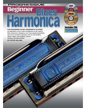 Progressive Beginner Blues Harmonica - Teach Yourself How to Play Harmonica