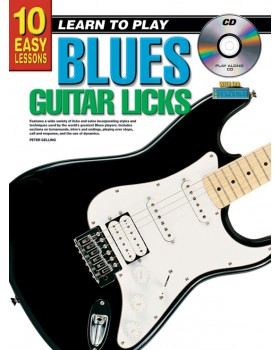 10 Easy Lessons - Learn To Play Blues Guitar Licks - Teach Yourself How to Play Guitar