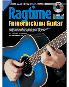 Progressive Ragtime Fingerpicking Guitar - Teach Yourself How to Play Guitar