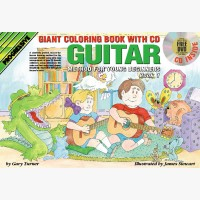 Progressive Guitar Method for Young Beginners - Book 1 (Giant Coloring Book)