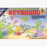 Progressive Electronic Keyboard Method for Young Beginners - Book 1 (Giant Coloring Book)