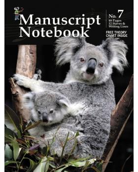 Progressive Manuscript Book 7 - Notebook - Music Staff Paper