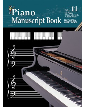 Progressive Manuscript Book 11 - Piano Staves - Music Staff Paper