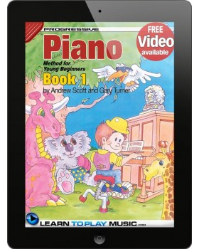 Piano Lessons for Kids - Book 1 - How to Play Piano for Kids (Free Video Available)