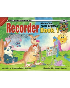 Progressive Recorder Method for Young Beginners - Book 1 - How to Play Recorder for Kids