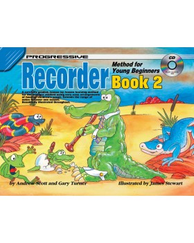 Progressive Recorder Method for Young Beginners - Book 2 - How to Play Recorder for Kids