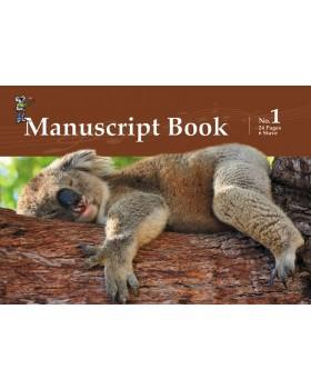 Progressive Manuscript Book 1 - A5 Stapled, 24 Pages, 6 Stave - Music Staff Paper