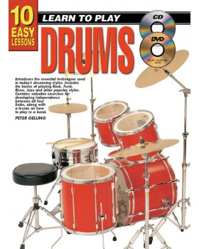 10 Easy Lessons - Learn To Play Drums - Teach Yourself How to Play Drums