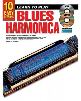10 Easy Lessons - Learn To Play Blues Harmonica - Teach Yourself How to Play Harmonica