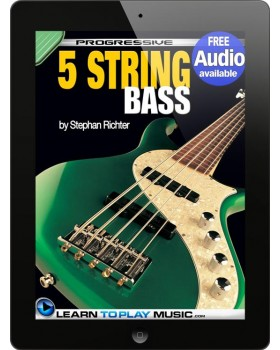 5-String Bass Guitar Lessons for Beginners - Teach Yourself How to Play Bass Guitar (Free Audio Available)