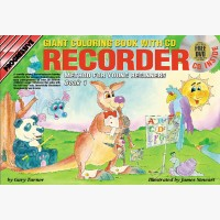 Progressive Recorder Method for Young Beginners - Book 1 (Giant Coloring Book)