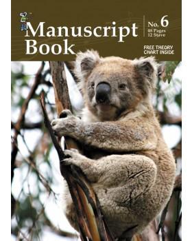 Progressive Manuscript Book 6 - Music Staff Paper