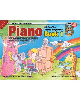 Progressive Piano Method for Young Beginners - Book 1 - How to Play Piano for Kids