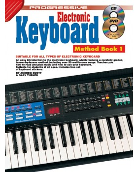 Progressive Electronic Keyboard Method - Book 1 - Teach Yourself How to Play Keyboard