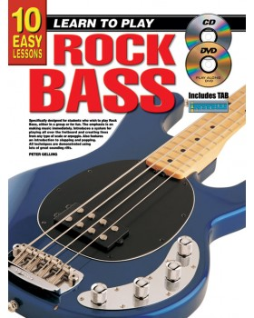 10 Easy Lessons - Learn To Play Rock Bass - Teach Yourself How to Play Bass Guitar