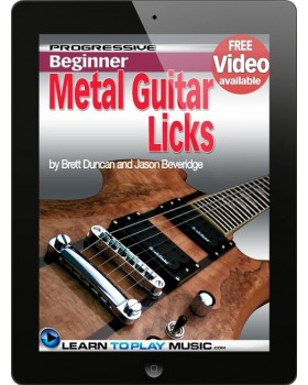 Metal Guitar Lessons - Licks and Solos - Teach Yourself How to Play Guitar (Free Video Available)