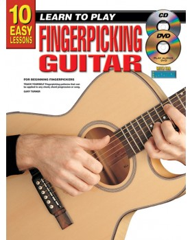 10 Easy Lessons - Learn To Play Fingerpicking Guitar - Teach Yourself How to Play Guitar