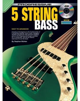 Progressive 5 String Bass - Teach Yourself How to Play Bass Guitar