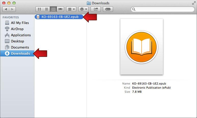 Mac OS 10.9: Downloads Folder
