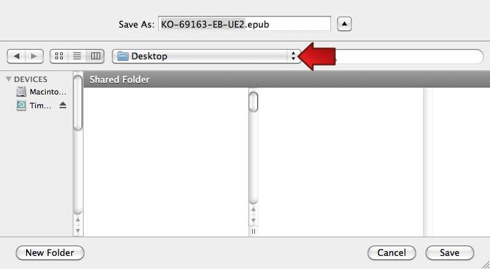 Mac OS: Save to Desktop
