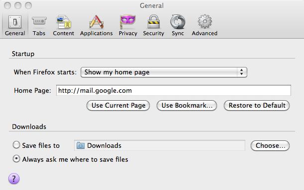 Mac OS 10.6.8: Mozilla Preference Pane